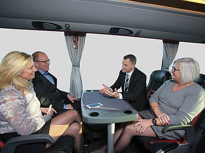 Corporate Travel - Start your meeting in the coach